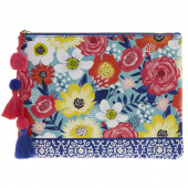 Cantina Teal Floral Glam Bag