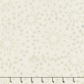 Cream of the Crop Batiks - Dandelion Burst Tan Green Yardage