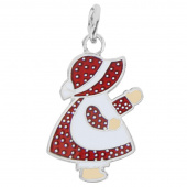 Sunbonnet Sue Charm - Red