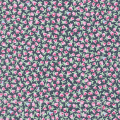 Guest Room - Tulips Midnight Yardage