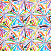 "Smashing Atoms 108"" - White Multi Digitally Printed 108"" Wide Backing"