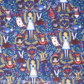 Wonderland - Wonderland Navy Metallic Yardage