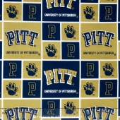 College - University of Pittsburgh Allover Yardage