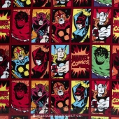 Marvel Comics III - Comic Book Heroes Dark Red Yardage