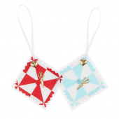 Sew Happy Pinwheel Quilter's Ornament - Assorted Colors