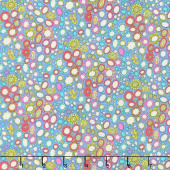 Fantasy - Flower Heads Periwinkle Yardage
