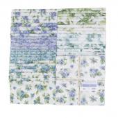 "Watercolor Hydrangeas 10"" Squares"