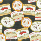 Bella Toscana - Labels Nero Yardage