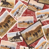 Ranch Hands - Post Cards Red Yardage