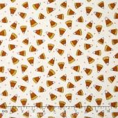 Pumpkin Party Flannel - Candy Corn Cream Yardage