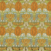 Voysey - The Owl 1897 Gold Yardage