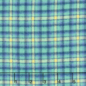Primo Plaids - Blue Green Plaid Yarn Dyed Flannel Yardage