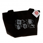 Quilt Happy Petite Project Bag - Black