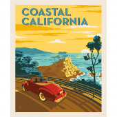 Destinations - Coastal California Poster Multi Digitally Printed Panel