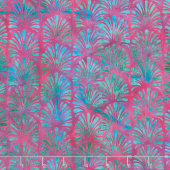 Floralicious Batiks - Vertical Plumes Mixed Berry Yardage