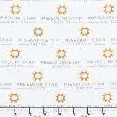 Missouri Star Souvenir Collection - Missouri Star Logo White Yardage
