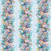 Topia - Floral Stripe Wild Digitally Printed Yardage