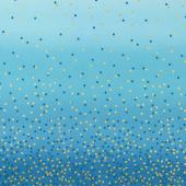 Ombre Confetti - Turquoise Metallic Yardage