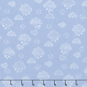 Sweet Dreams - Dreamy Clouds Periwinkle Yardage
