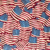 Stonehenge Stars and Stripes - American Flags Multi Yardage