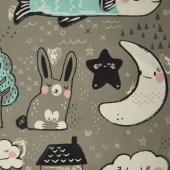 Sleep Tight - Toys Grey Yardage