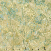 Artisan Batiks - Inspired by Nature Leaves Leaf Green  Yardage