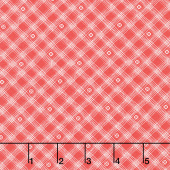 From the Heart - Plaid Red Yardage