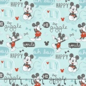 Mickey Mouse - Oh Boy! Rainwater Yardage
