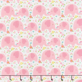 Sweet Baby Girl - Elephants Pink Yardage