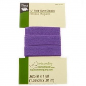 "5/8"" Fold Over Elastic 1yd Purple"