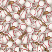 Sports - Baseballs White Yardage