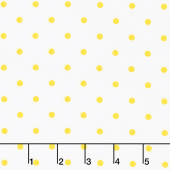 Lemon Fresh - Lemon Drop Dots White Yardage