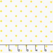 Lemon Fresh - Lemon Drop Dots White Yardage