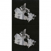 Metropolis - Canada Canadian Map Iron Panel