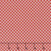 Arbor Blossom - Arbor Geometric Red Yardage