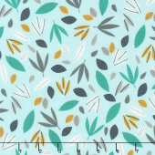Wild About You - Leaves Mint Yardage