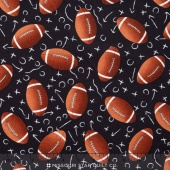 Sports - Footballs Black Yardage