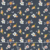 Golden Days - Floral Navy Yardage