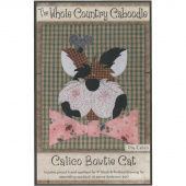 Calico Bowtie Cat Precut Fused Appliqué Pack