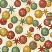 Winter's Grandeur 6 - Holiday Ornaments Holiday Metallic Yardage