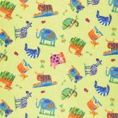 Animal Magic - Animal Play Multi Bright Yardage
