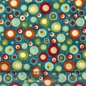 Doodle Days Calendar - Multi Dots Blue Multi Yardage