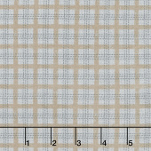 Farmhouse Flannels II - Country Check Feather Yardage