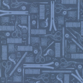 Crafters Gonna Craft - Tools Navy Yardage