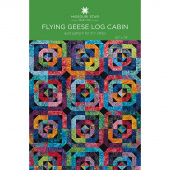 Flying Geese Log Cabin Quilt Pattern by Missouri Star