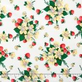 Fruta y Flor - Strawberry Bouquet Cloud Yardage