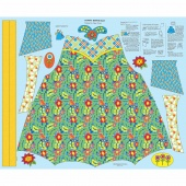 Chatterbox Aprons - Chatterbox Blue Panel