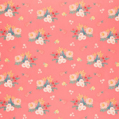 Flower Market - Main Coral Yardage