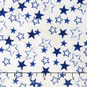 Patriots - Stenciled Stars Blue Yardage