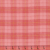 Primo Plaid - Orange Plaid Flannel Yardage